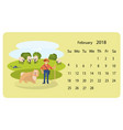 calendar 2018 for february vector image vector image