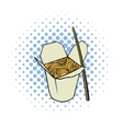 Chinese noodle in box comics icon vector image