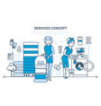 cleaning premises dry cleaning laundry of things vector image