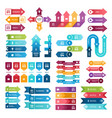 colored arrows for business presentations vector image