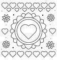 coloring page of flowers and vector image