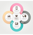 Communication technology infographics circle vector | Price: 1 Credit (USD $1)
