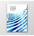 Cover Report Business Colorful blue Stripes vector image vector image
