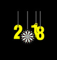darts board and 2018 hanging on strings vector image