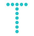 digital letter t display board round dot vector image vector image