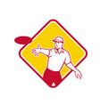 disc golf player throwing mascot diamond vector image vector image