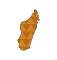 dotted line map of madagascar vector image