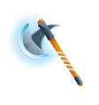 fantasy medieval hatchet icon vector image vector image