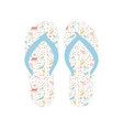 Flip flops Slippers with cat pattern vector image vector image