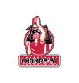 Football Champs 51 Atlanta Retro vector image vector image