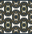 gold black abstract artdeco frame seamless pattern vector image vector image