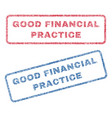 good financial practice textile stamps vector image vector image