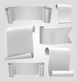 gray tapes template set vector image vector image