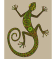 hand drawn lizard or salamander with ethnic tribal vector image