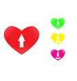 icon heart upload vector image