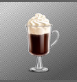 irish coffee on transparent background vector image vector image