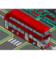 Isometric Double Decker Bus with Open Doors vector image vector image