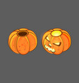 isometric smiling autumn cartoon character vector image vector image