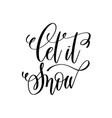 let is snow hand lettering inscription to winter vector image vector image