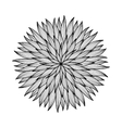 Mandala Black and white round ornament vector image