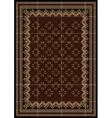 Motley rug in maroon and brown shades vector image vector image