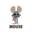 mouse thump up mascot character logo icon vector image vector image