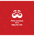 Moustache Christmas background 1010 vector image vector image
