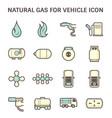 natural gas icon vector image vector image