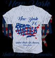 newyork american flag tee graphic design vector image