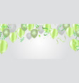 poster background with colorful balloons and vector image vector image