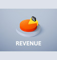revenue isometric icon isolated on color vector image