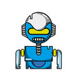 robot face with technology robotic chest vector image