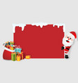 santa claus with christmas gifts copy space label vector image vector image