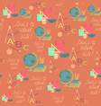 seamless pattern for school sale wrappings vector image vector image