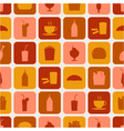 seamless pattern of fast food icons vector image vector image