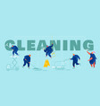 service professional cleaners concept male and vector image vector image