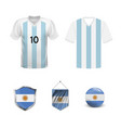 set argentina football supporter flags and vector image vector image