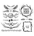 set hand drawn tribal frames and dividers vector image vector image