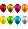 Set of realistic balloons vector image vector image