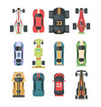 sport and racing cars - set of modern vector image
