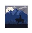 summer mountain cowboy love limited edition art pr vector image