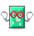 super hero rectangle character cartoon style vector image
