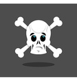 Surprised skull emotion Crossbones Discouraged vector image