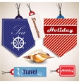 Tags with shells vector image vector image