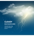 Thunderstorm Background With Cloud and Lightning vector image