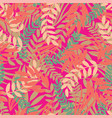 tropical leaves seamless pattern on bright vector image vector image