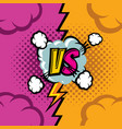 versus cartoon comic book background vector image vector image