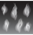 White smoke waves transparent vector image vector image