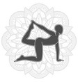yoga training logo design female pilates vector image