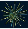 Firework background bark blue color vector image